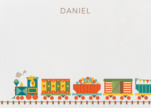 Train (Stationery) - Petit Collage - Kids' stationery