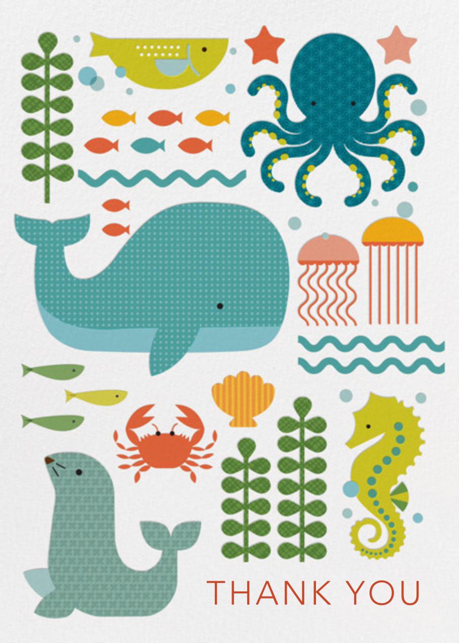 Ocean Parade - Petit Collage - Thank you