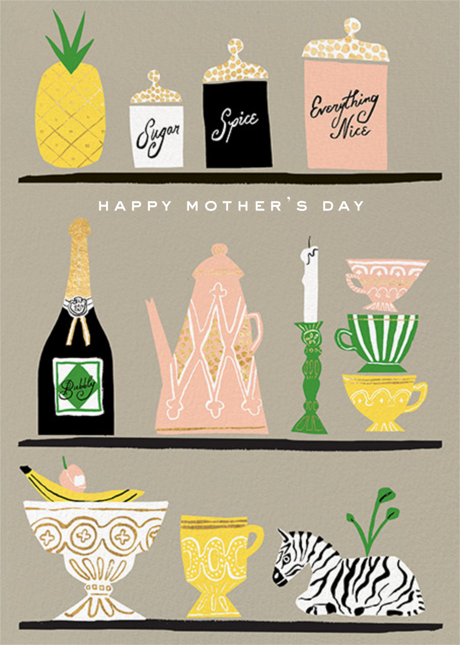 Kitchen Shelves (Greeting) - kate spade new york - Mother's Day