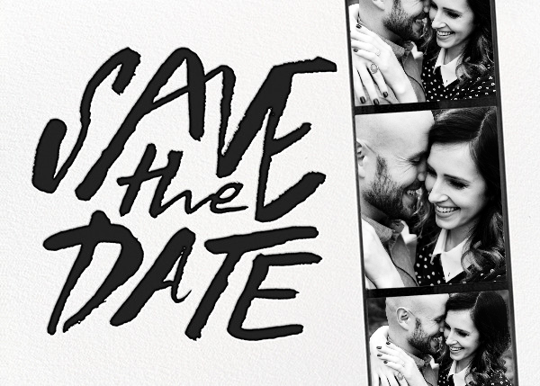 Photo Booth Save the Date - Black - kate spade new york - Modern