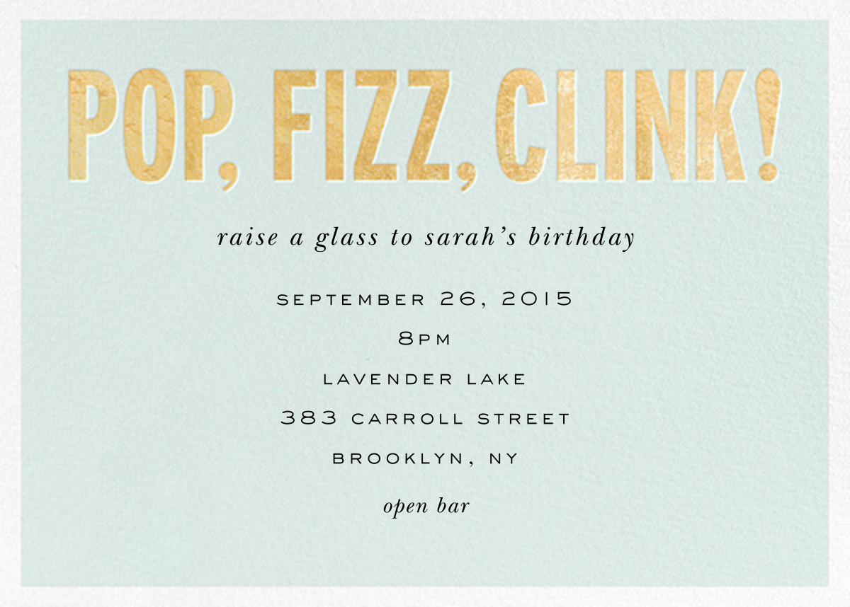 Pop Fizz Clink! (Horizontal) - kate spade new york - Adult birthday