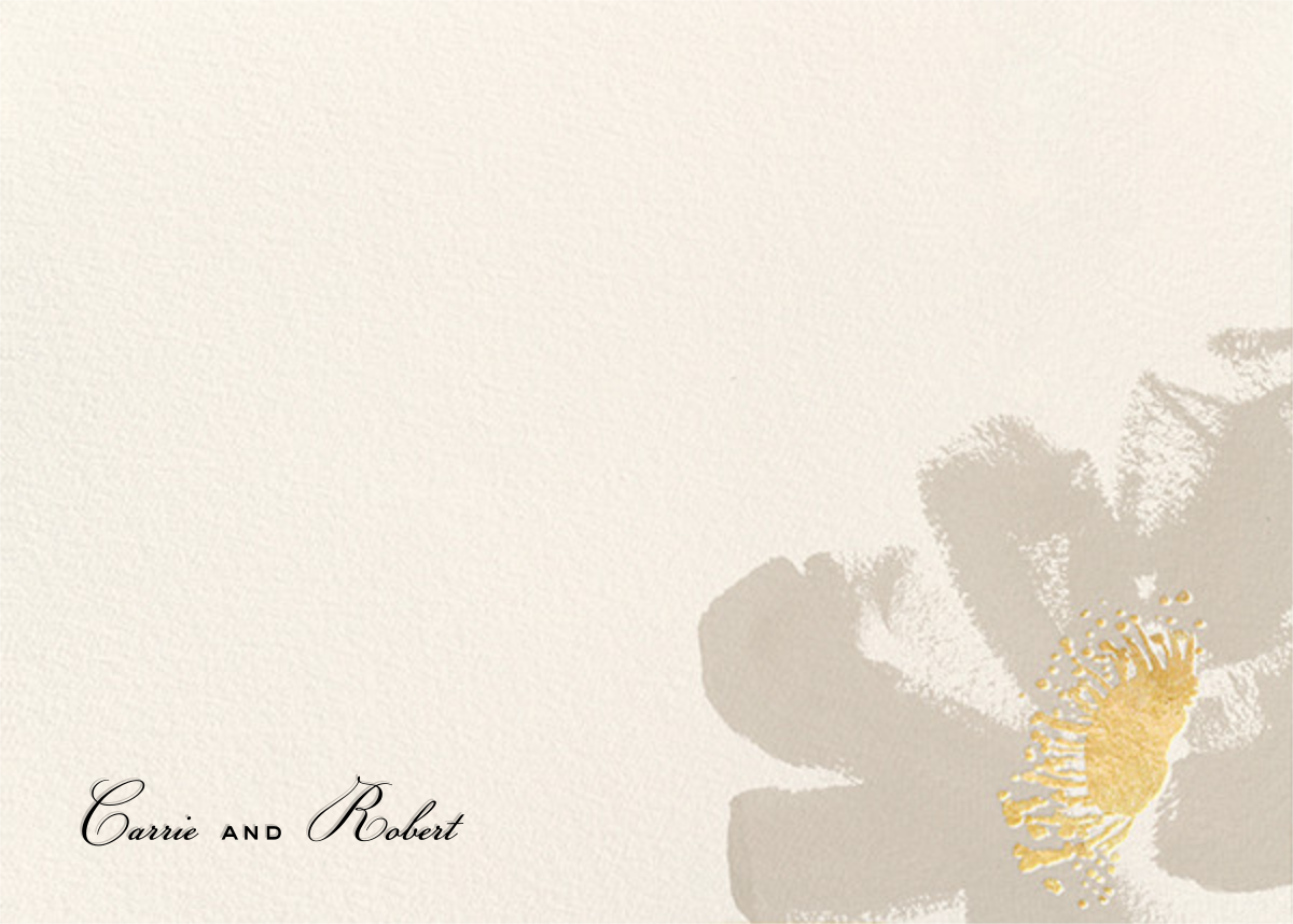 Poppies (Stationery) - Taupe - kate spade new york - Personalized stationery