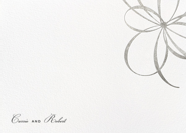 Belle Boulevard (Stationery) - Silver - kate spade new york - Personalized stationery