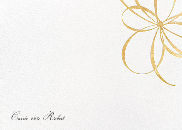 Belle Boulevard (Stationery) - Gold - kate spade new york - Personalized stationery