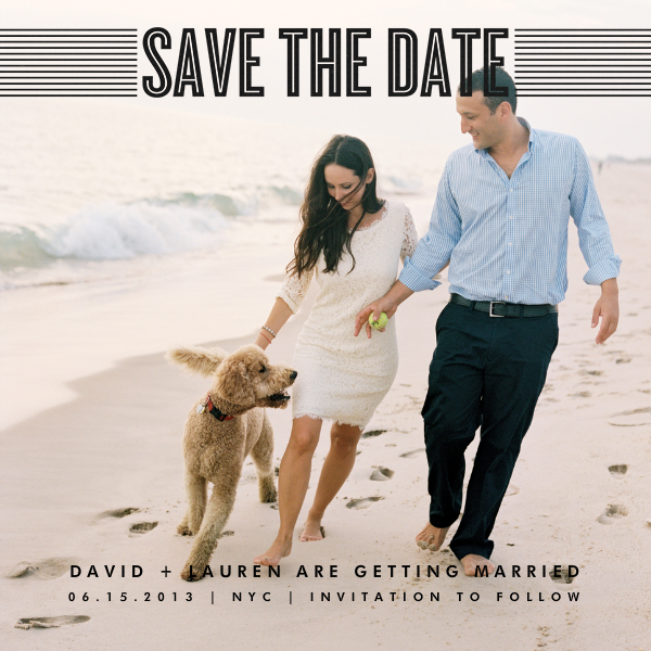 Bar Lines - Black - Crate & Barrel - Party save the dates