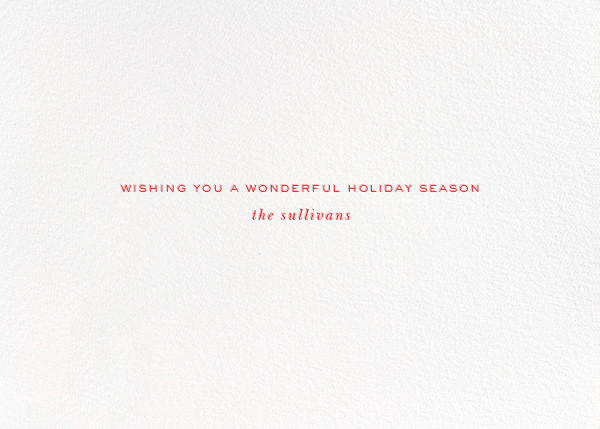 Jingle All the Way - kate spade new york - Holiday cards - card back