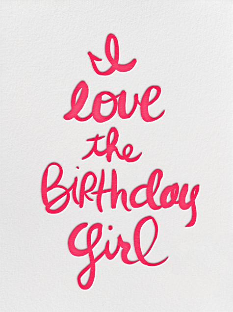 I Love the Birthday Girl - Linda and Harriett - Birthday