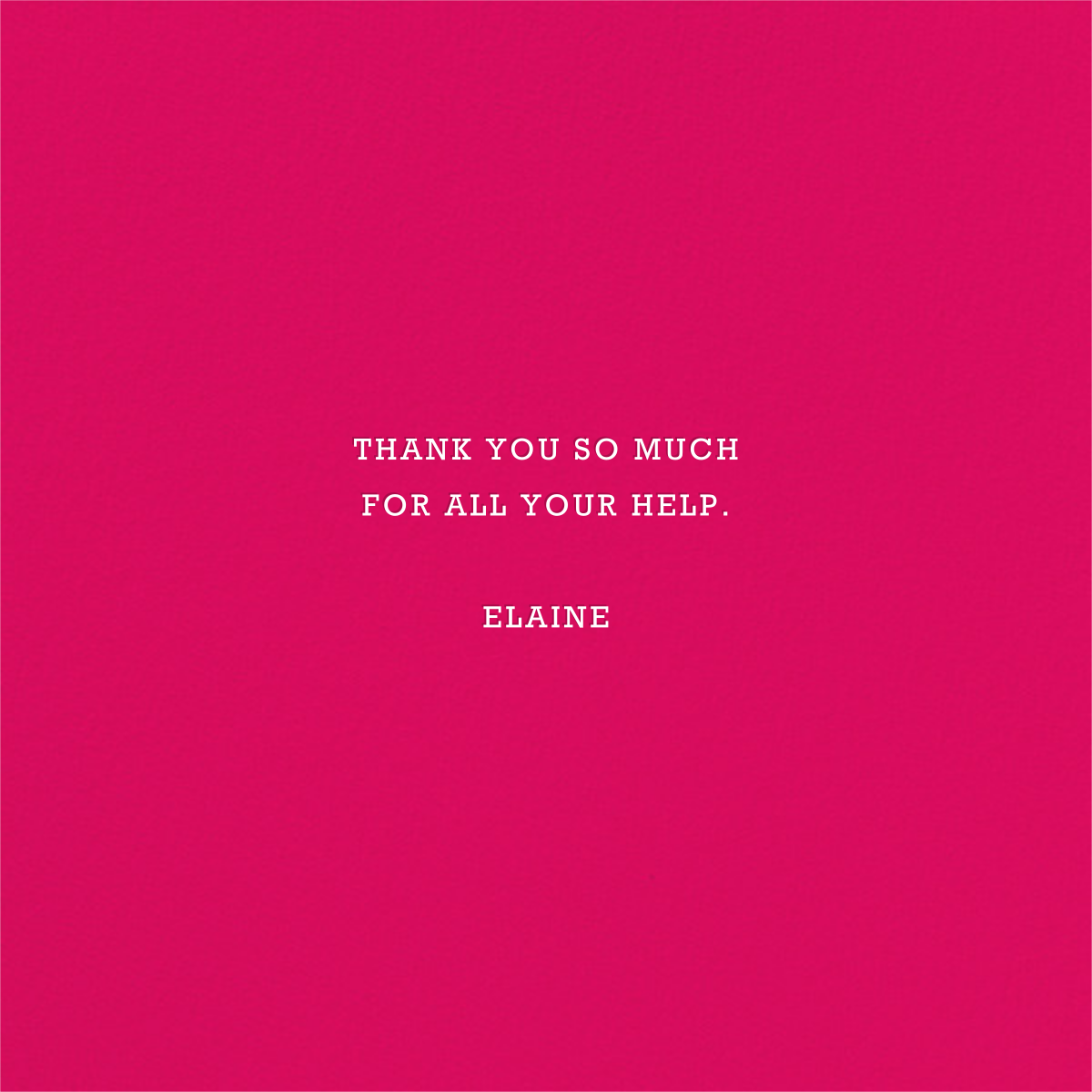 Danke - Pink - Jonathan Adler - Graduation thank you cards - card back