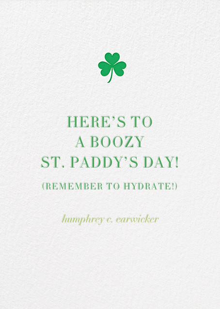 Irish Kisses - Jonathan Adler - St. Patrick's Day - card back