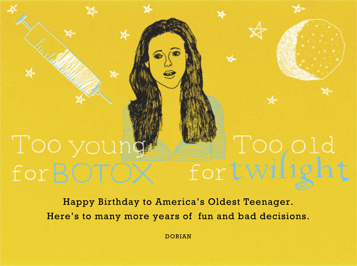 Too Young for Botox - Paperless Post - Free birthday eCards