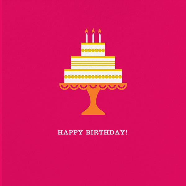 Cake and Candles (Greeting) - Pink - Jonathan Adler - Birthday