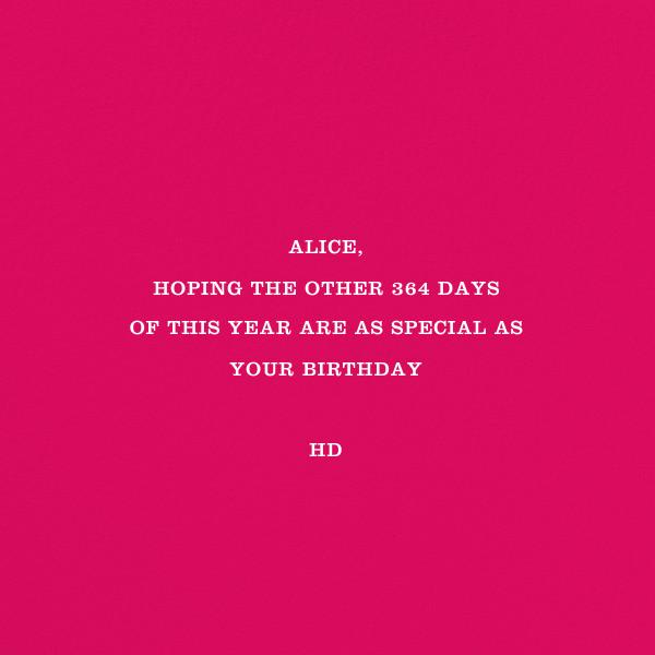 Cake and Candles (Greeting) - Pink - Jonathan Adler - Birthday - card back