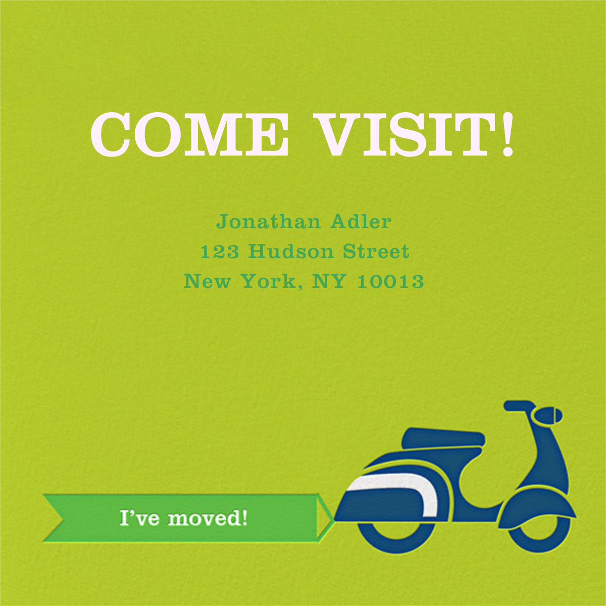 Scoot-a-Toot - Green - Jonathan Adler - Moving