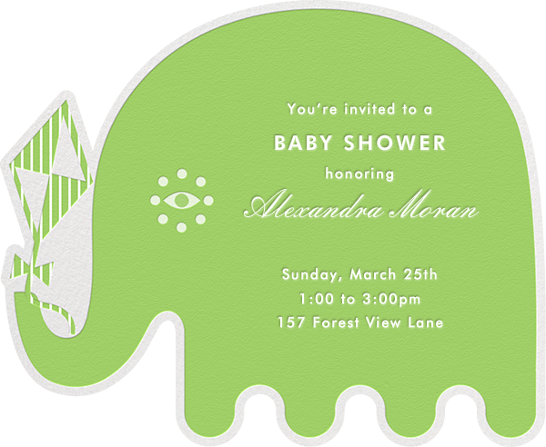 Circus Elephants - Green - Jonathan Adler - Baby shower