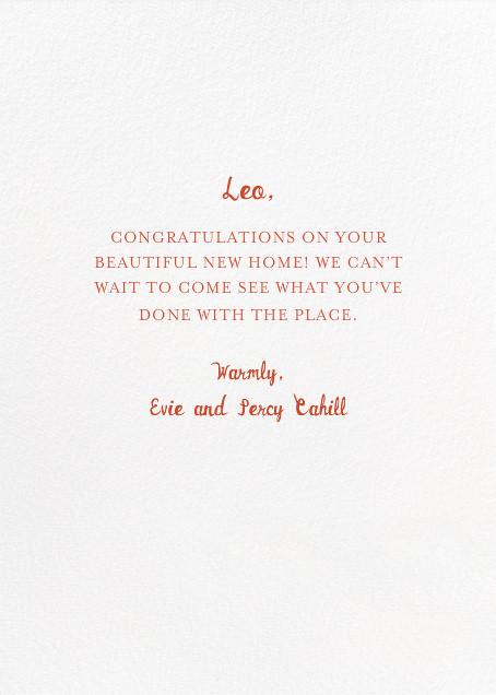 Keys to Your Castle - Mr. Boddington's Studio - Congratulations - card back