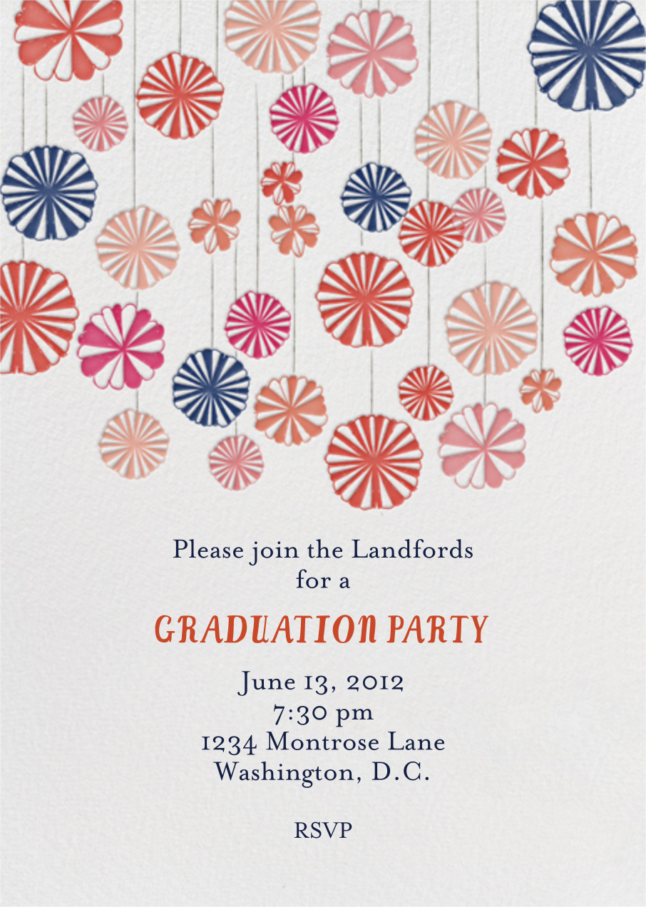 Mr. Porter's Ribbons - Pinks - Mr. Boddington's Studio - Graduation party