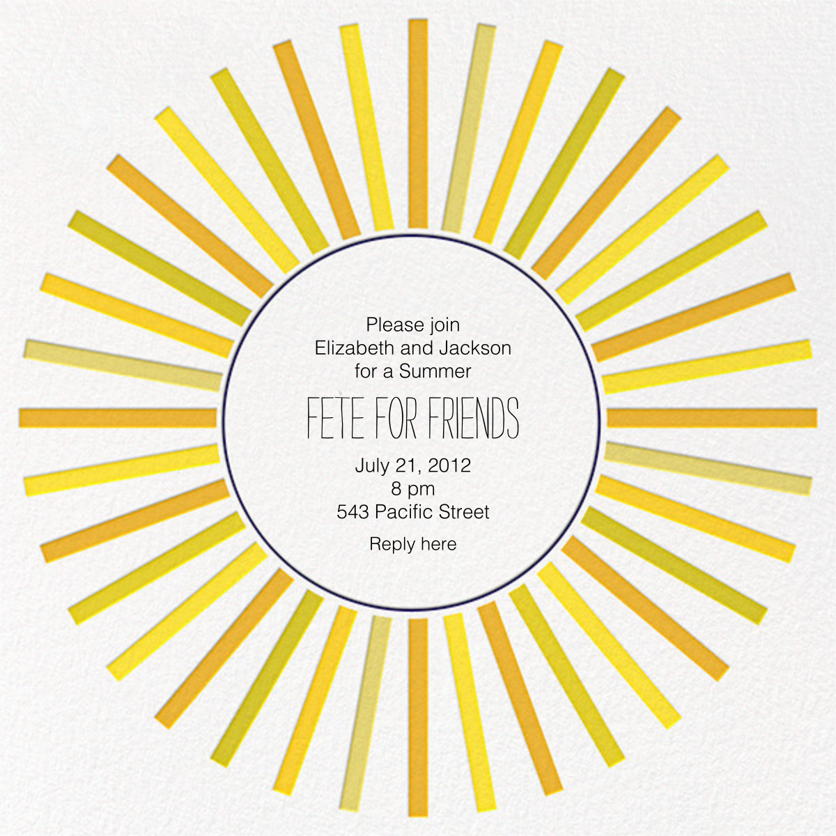 Sweden in the Summer - Sunshine - Mr. Boddington's Studio - Western party invitations