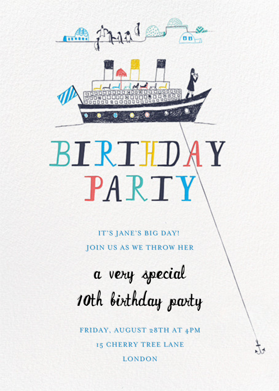 My Toddler's Yacht - Multi - Mr. Boddington's Studio - Kids' birthday
