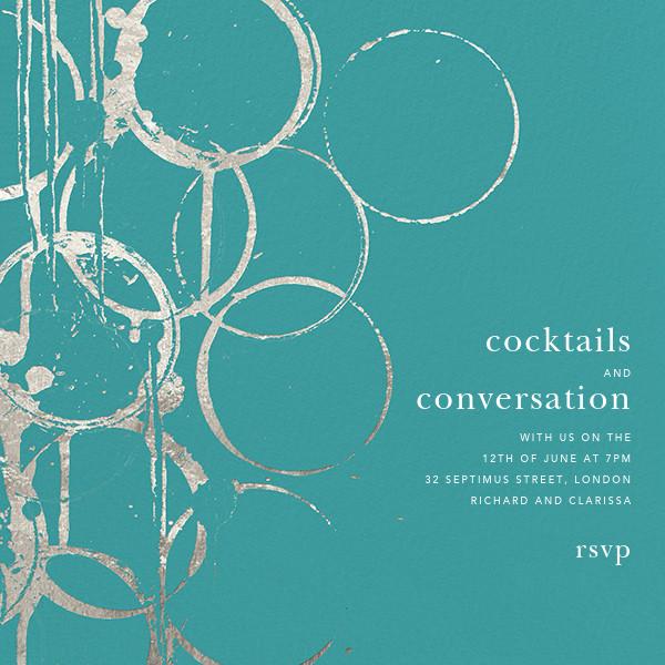 Bottle Shock - Teal/Silver - Kelly Wearstler - Cocktail party