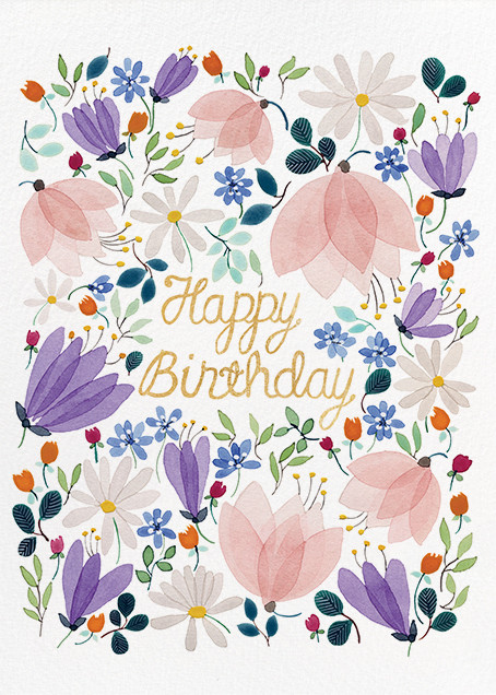 Birthday Whispers (Anna Emilia Laitinen) - Red Cap Cards - Birthday