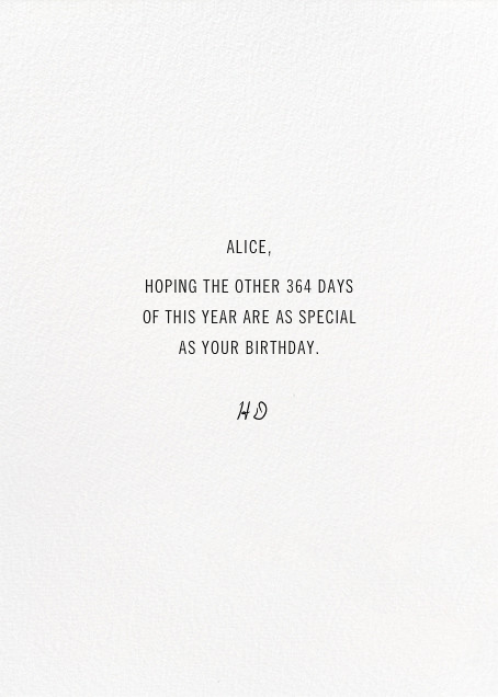 Birthday Whispers (Anna Emilia Laitinen) - Red Cap Cards - Birthday - card back