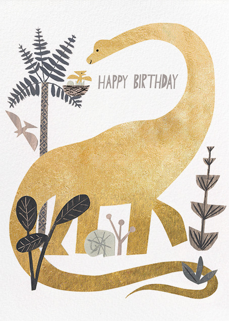 Dinosaur Birthday (Christian Robinson) - Red Cap Cards - Birthday