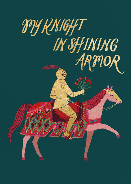 Knight in Shining Armor (Becca Stadtlander) - Red Cap Cards - Love and romance
