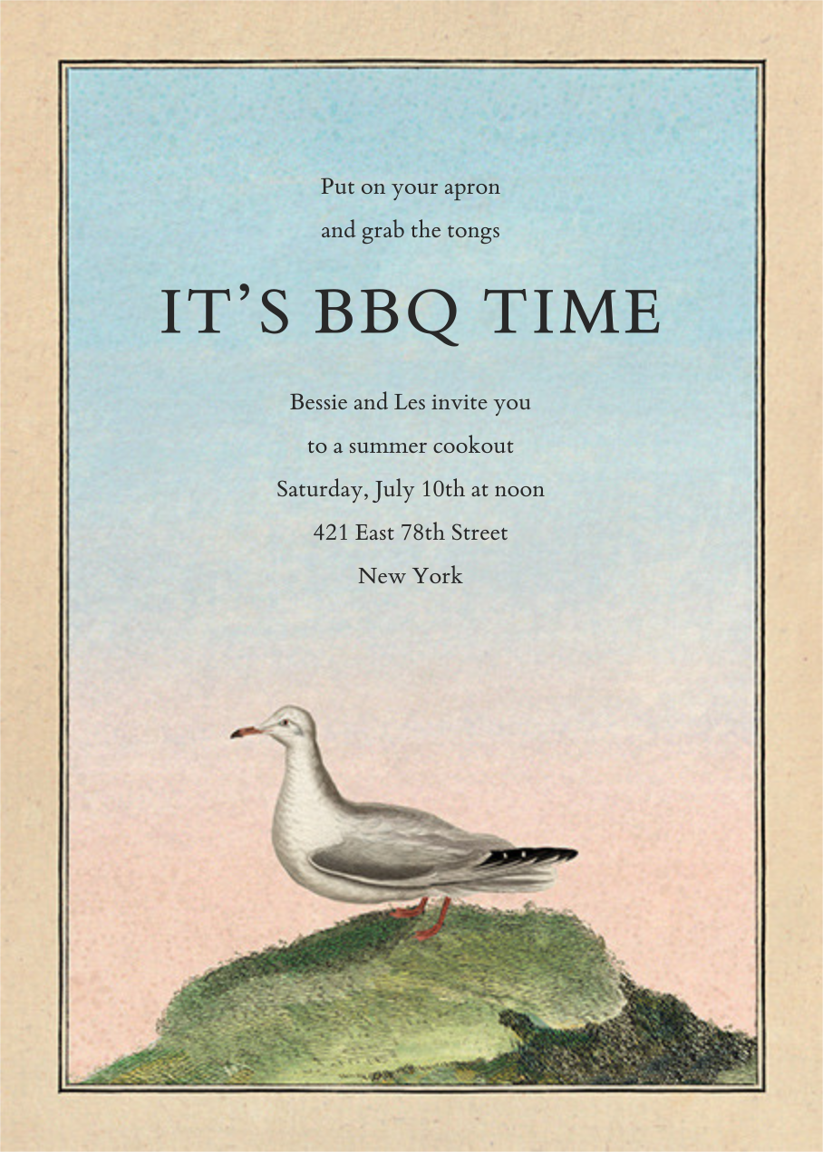 Gull on Hill - John Derian - Barbecue