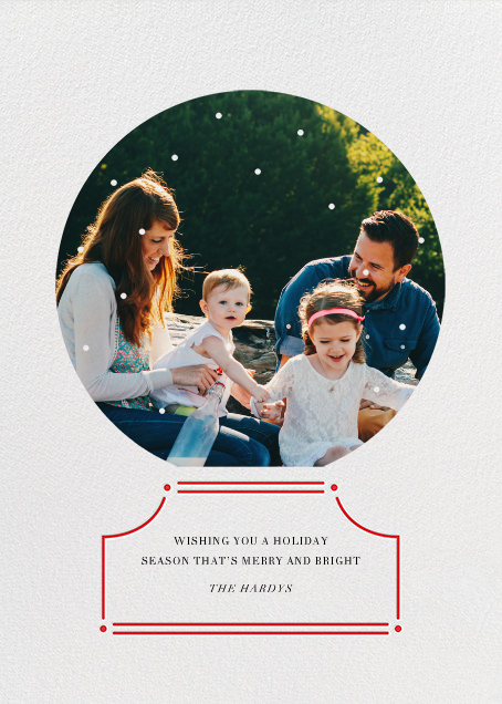 Encapsulated - Red - Paperless Post - Holiday cards