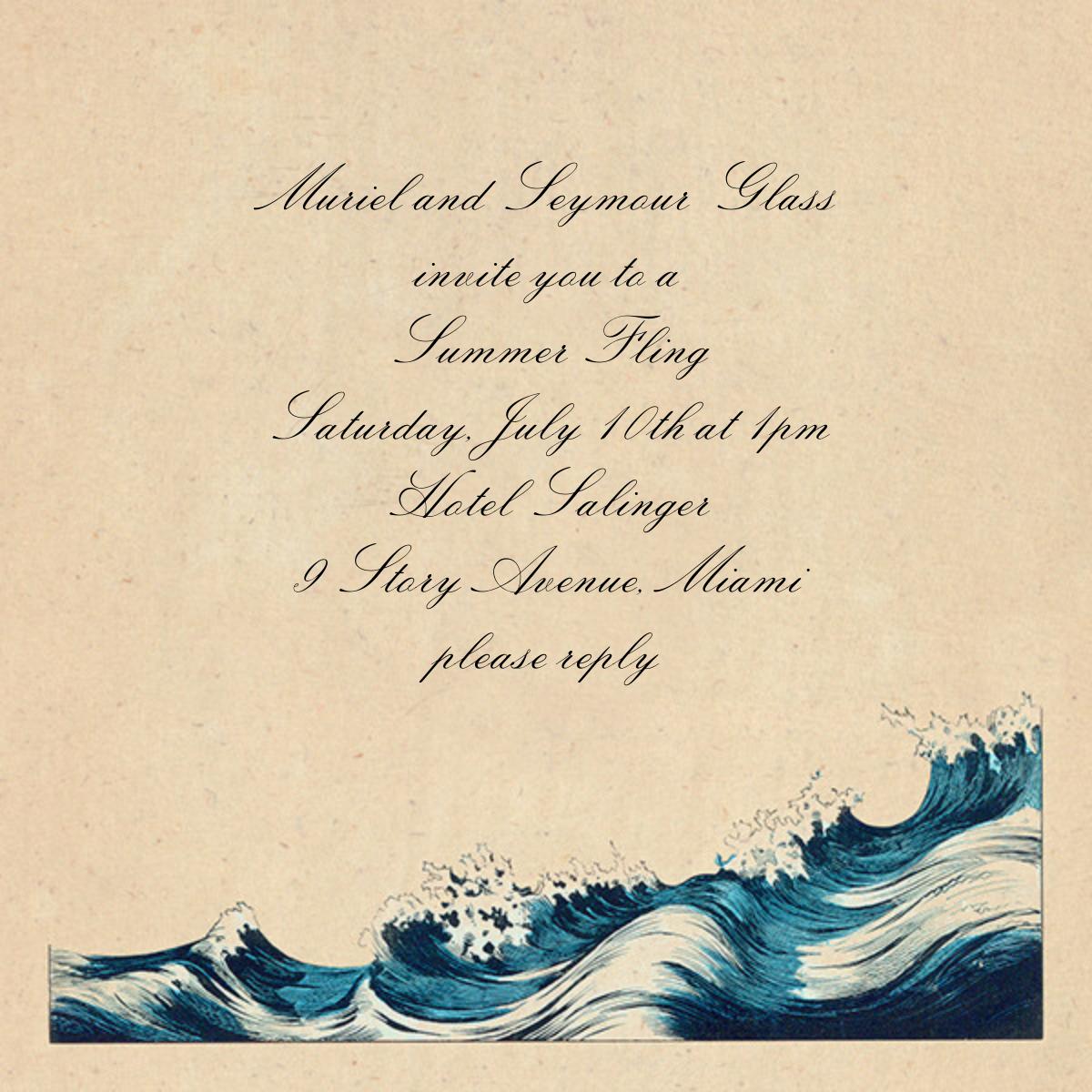 Rough Waves - John Derian - Beach party