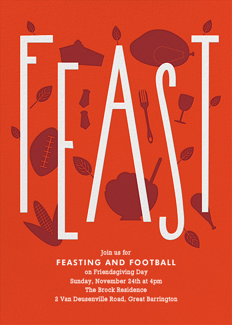 Feasting and Football - Paperless Post - Thanksgiving
