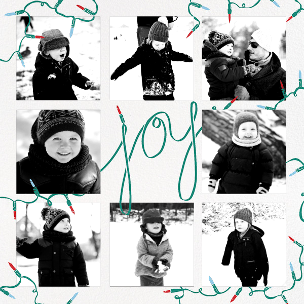 Strung with Joy - Paperless Post - Holiday cards