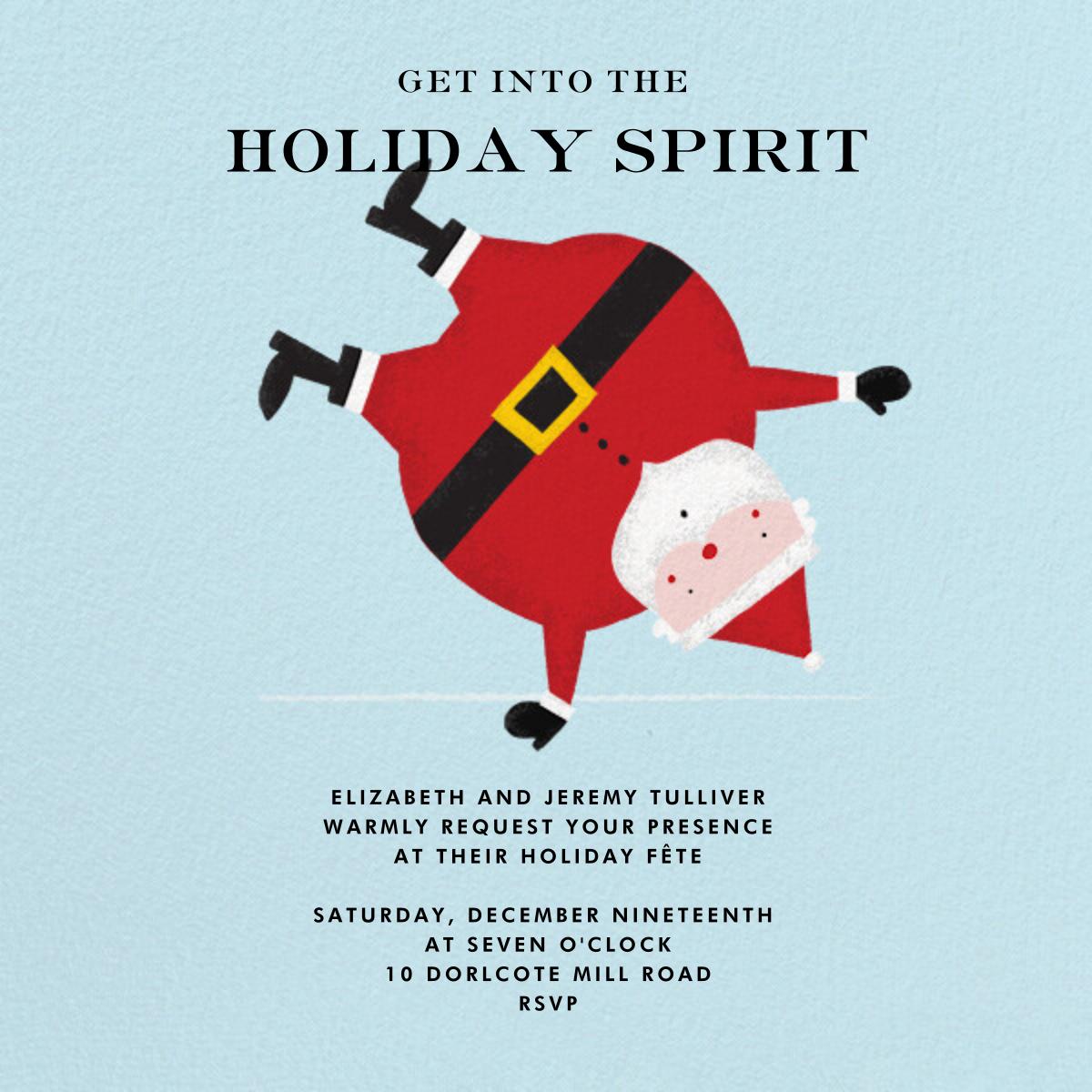 Cartwheelin' Claus - Fair - Paperless Post - Christmas party