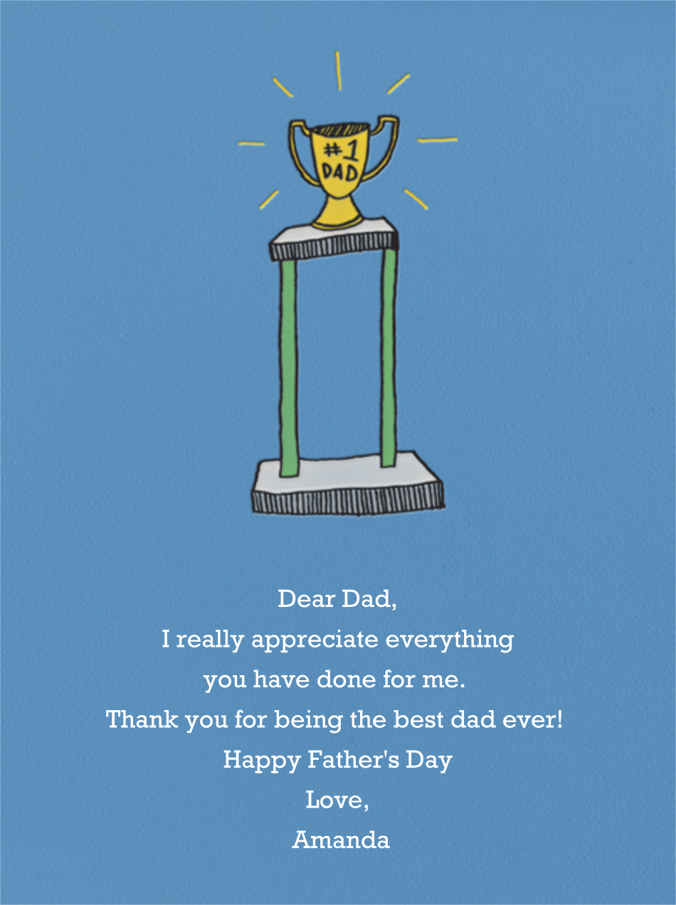 Number One Dad - Paperless Post - Father's Day