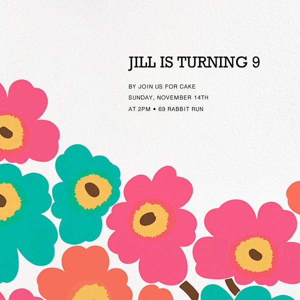 Unikko (Square) - Pink/Teal - Marimekko - Kids' birthday