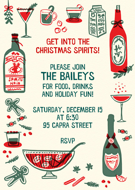 That's the Spirit - Hello!Lucky - Holiday cocktail party invitations