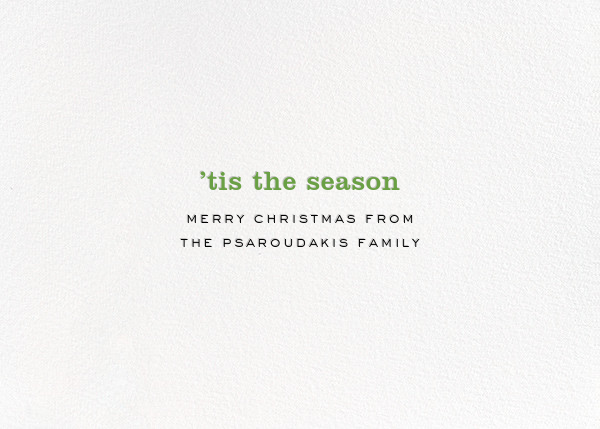 A Christmas Story - Multi  - kate spade new york - Christmas - card back