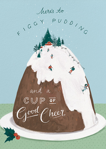 Mount Pudding (Greeting) - Paperless Post - Christmas