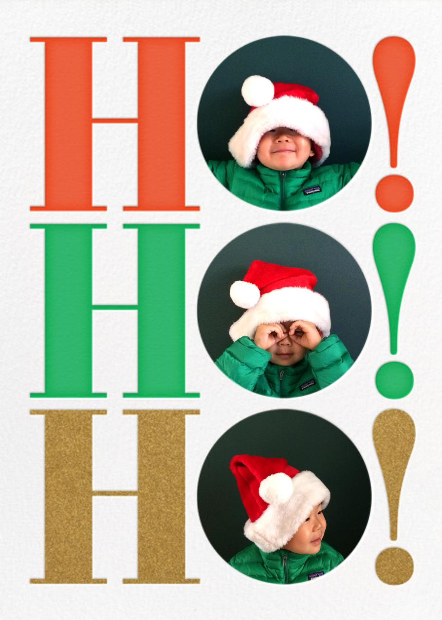 Ho Ho Ho Photo - The Indigo Bunting - Christmas
