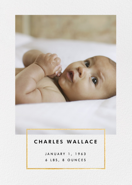 Placard - Gold - Paperless Post - Birth