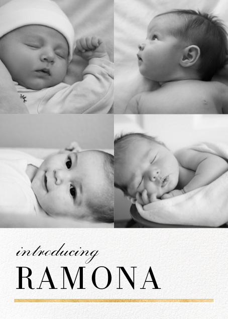 Underscore (Multi-Photo) - Gold - Paperless Post - Birth
