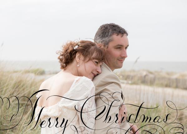 Merry Christmas Script (Photo) - Black - Bernard Maisner - Christmas