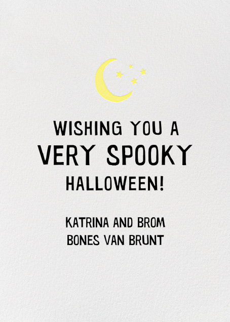 Ghostly Greetings - Hello!Lucky - Halloween - card back