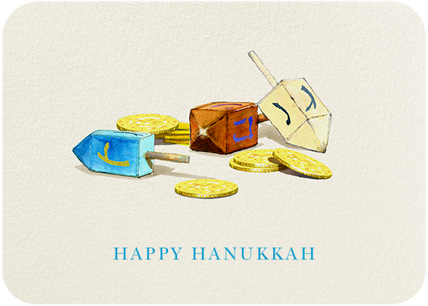 Dreidels and Gelt - Felix Doolittle - Hanukkah