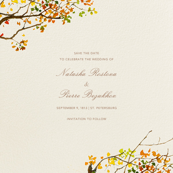 Autumn Boughs (Save the Date) - Felix Doolittle - Save the date