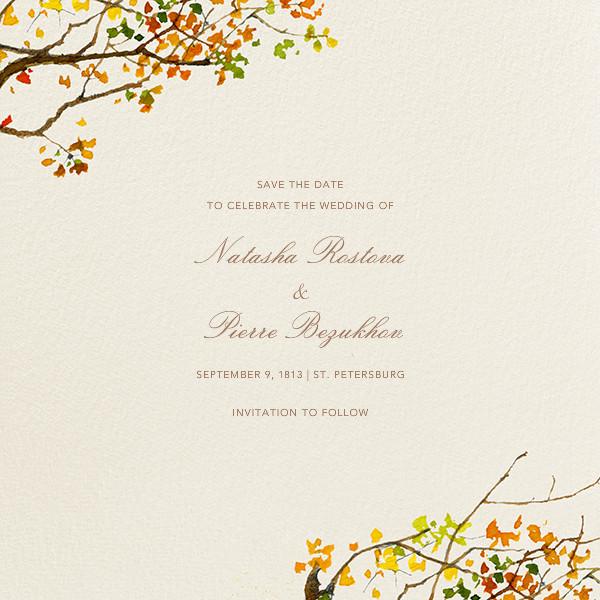 Autumn Boughs (Save the Date) - Felix Doolittle - Destination
