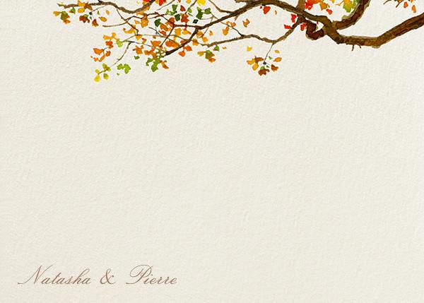Autumn Boughs (Stationery) - Felix Doolittle - Personalized stationery