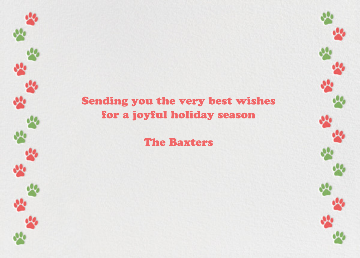Happy Pawlidays - Paperless Post - Holiday cards - card back
