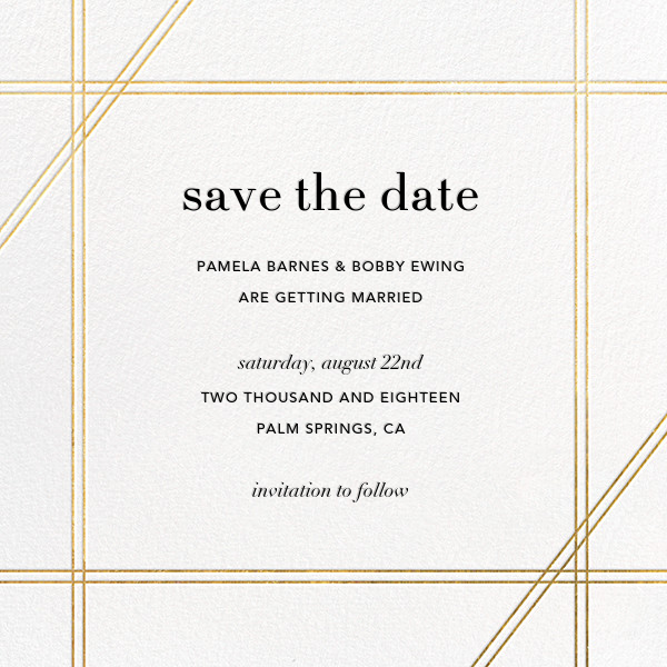 Caning (Save the Date) - Gold - Jonathan Adler - Classic