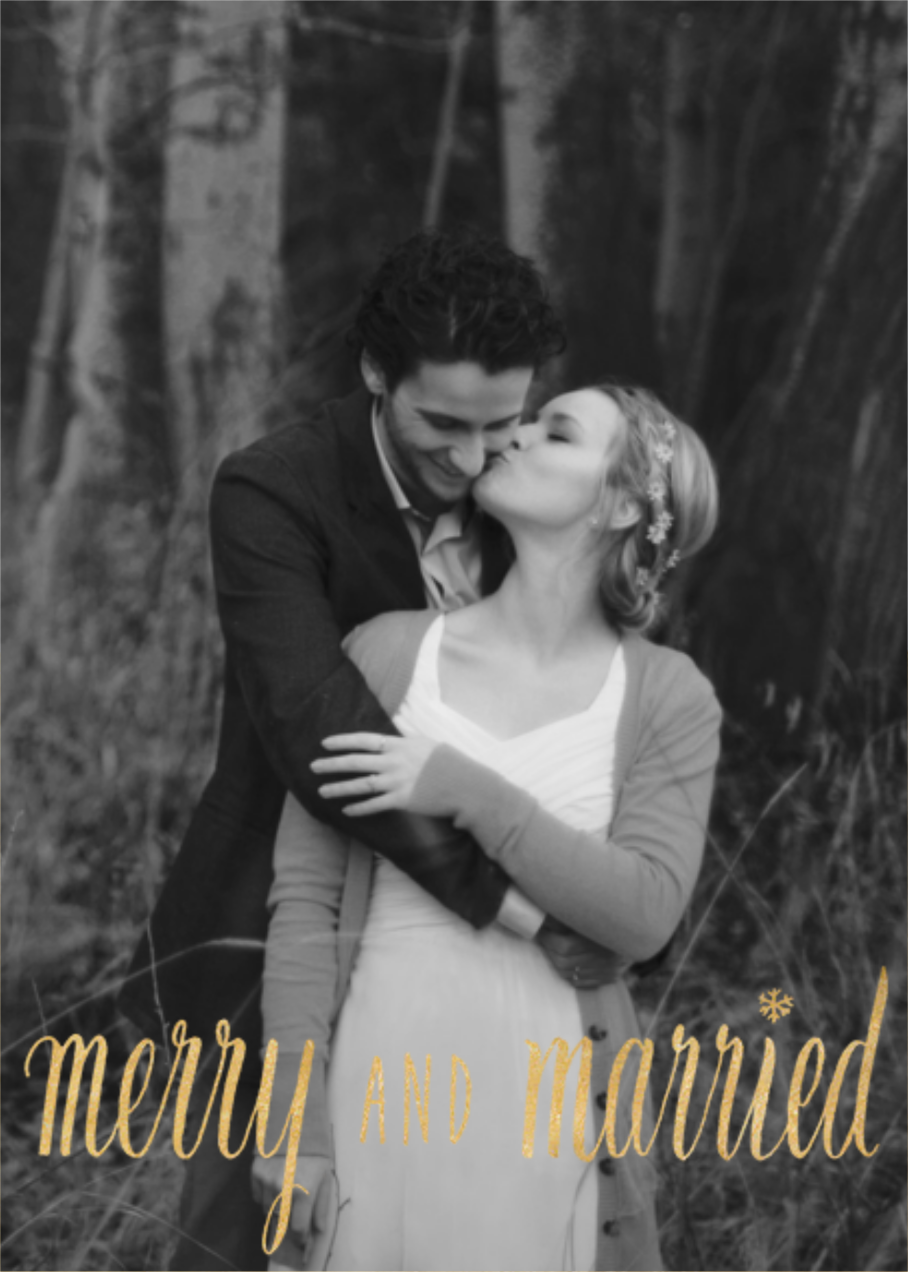Merry and Married - Gold - Paperless Post